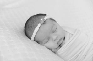 black and white closeup baby