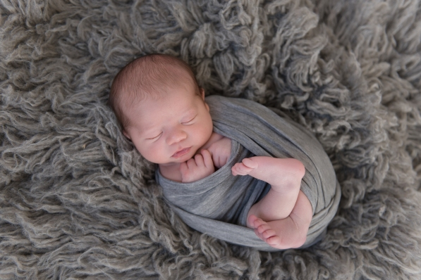 newborn wrapped