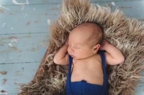 newborn blue overalls