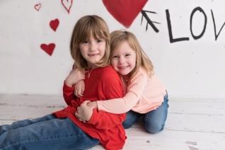 valentines day mini sisters hug
