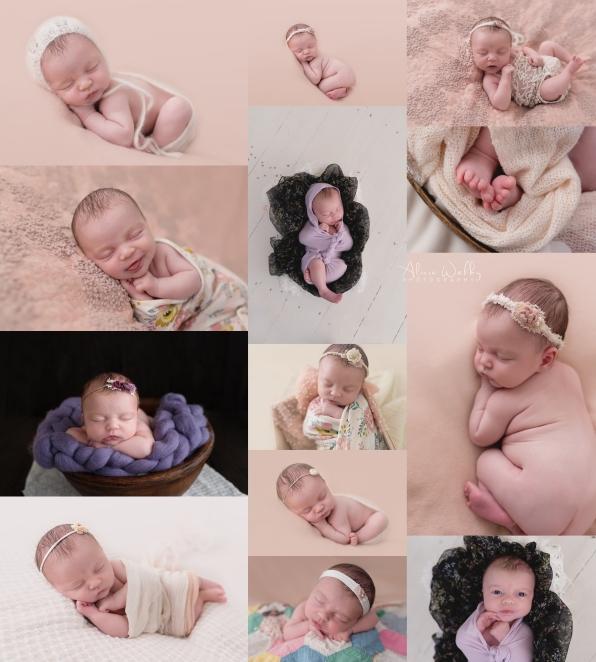 pink and purple newborn baby girl